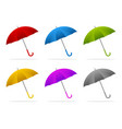 color umbrellas vector image