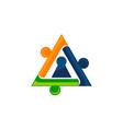 community secure logo design template vector image vector image
