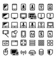 computer smartphone laptop line icons set vector image