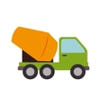 concrete mixer truck cement icon graphic vector image vector image