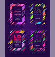 covers modern abstract design templates set vector image