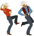 Cowboy dancing vector image vector image