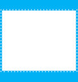 cyan blue and white rectangle frame cat paw vector image vector image