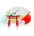 decorative traditional japanese background vector image