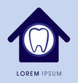 Dental home vector image