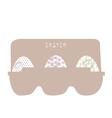 Easter eggs in cardboard packing vector image