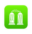 electrical impulses icon digital green vector image