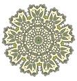 Ethnic Fractal Mandala Meditation looks like vector image vector image
