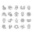 flu and coronavirus icons set editable vector image vector image