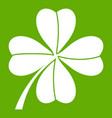 four leaf clover icon green vector image vector image