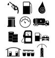 Fuel station icons set vector image