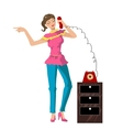 girl on the phone vector image