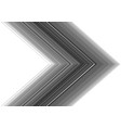 grey line tone arrow direction on white vector image vector image