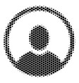 halftone dot rounded user portrait icon vector image vector image