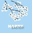 happy easter web banner template vector image vector image