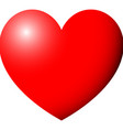 heart red color with ligth vector image vector image
