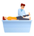 leg bed exercise icon cartoon style vector image vector image