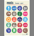 Media and social network web icons set vector image vector image