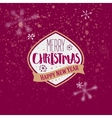 Merry Christmas golden typography greeting vector image vector image