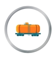 Oil tank car icon in cartoon style isolated on vector image vector image