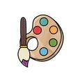paint palette symbol vector image vector image