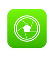 photo objective icon digital green vector image