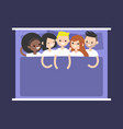 polyamory conceptual a group of young people vector image