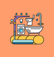 rainwater collection system vector image vector image