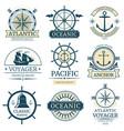 retro nautical labels badges logos vector image vector image