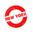 rubber ink stamp new york vector image