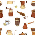 seamless pattern with tools and utensils vector image