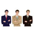 silhouette of a mans in a business suit vector image vector image