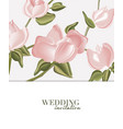 soft roses wedding decoration background vector image vector image