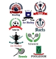Sporting icons emblems and symbols vector image vector image