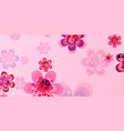 spring banner of colorful flowers vector image vector image