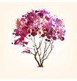 Spring tree of blots background vector image vector image