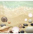 Summer Background with Beach Sand and Sea vector image vector image
