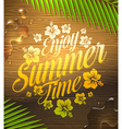 Summer holidays type design vector image vector image