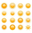Suns icons collection vector
