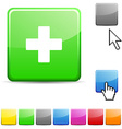 Switzerland glossy button vector image vector image