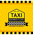 Taxi symbol with checkered background - 06 vector image vector image