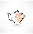 teapot grunge icon vector image
