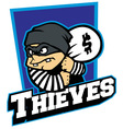thieves mascot vector image