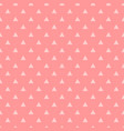 tile pattern with pink triangles on pastel pink vector image vector image