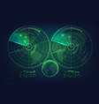 twin radar vector image vector image