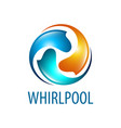 whirlpool logo concept design symbol graphic vector image vector image