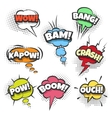 Comic Bubbles with Text in Pop Art style vector image