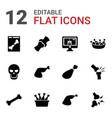 12 bone icons vector image vector image