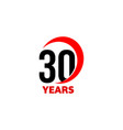 30th anniversary abstract logo thirty vector image vector image