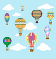 aerostat air balloon sky clouds flight travel vector image